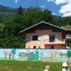 Juin 2012 -  Fresque au Pavillon à Aime