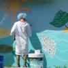 Mai 2012 -  Fresque au Pavillon à Aime