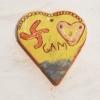 Coeur décoré (engobe + couverte)