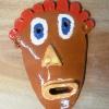 Masque décoré aux engobes + émail