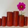 Vase Pan - Eté 2012 - Faïence rouge , émail