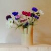 Vase multi tubes - faïence blanche, émail