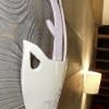 Cerf lilas - octobre 2012 – 20 x 28 cm - Faïence blanche, engobe et émail