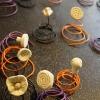Flora Volta - été 2012 - faïence blanche et fils électriques - 70 pièces