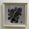 Empreintes noires - dec. 2013 - 36x36 cm - faïence, émail, acrylique et carton toilé