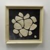 Empreintes blanches- dec. 2013 - 36x36 cm - faïence, émail, acrylique et carton toilé