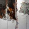 mars 2012 - bois flotté, faïence rouge, engobe et émail (1m H)