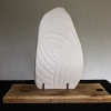 Stèle III verso - faïence blanche polie, briares