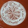 Plat carré, détail de la rosace