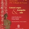 Affiche pour des concerts d'orgue à Vernon (27) - avril 2012