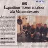 Aime - Expositionà la Maison des Arts - DL avril 12